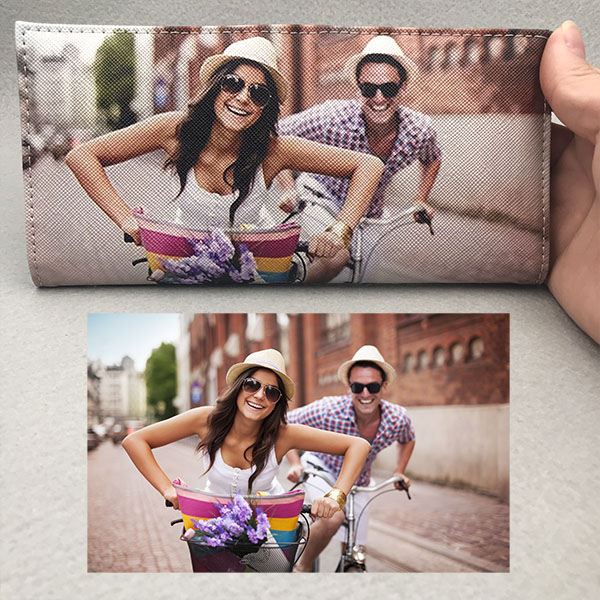 Personalized Photo Leather Folding Wallet
